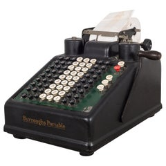 Early 20th Century Antique Burroughs Adding Machine, circa 1920