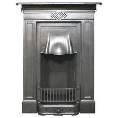 Early 20th Century Antique Cast Iron Bedroom Fireplace