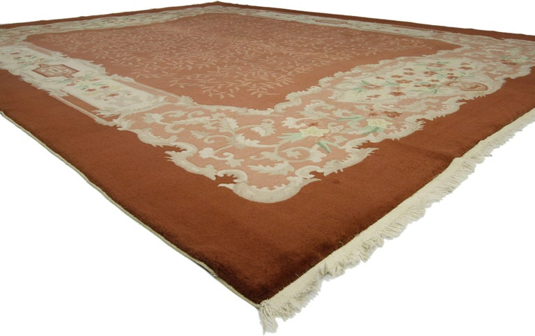 Hand-Knotted Early 20th Century Antique Chinese Art Deco Rug For Sale