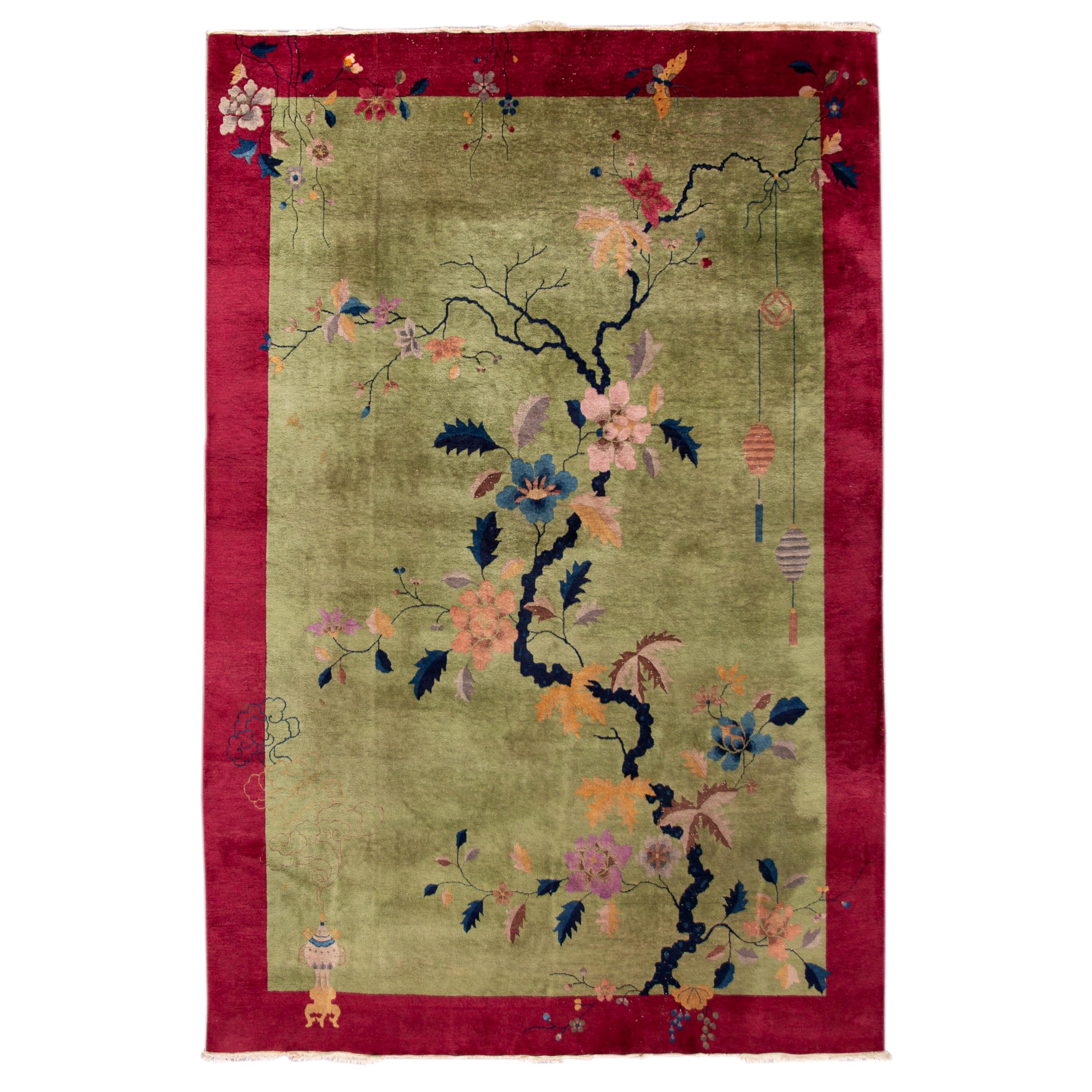 Early 20th Century Antique Chinese Art Deco Rug