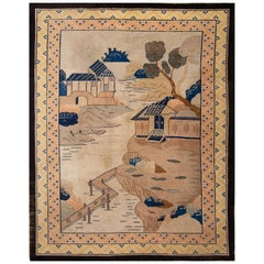 Early 20th Century Antique Chinese Peking Rug