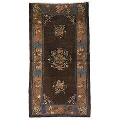 Early 20th Century Antique Chinese Peking Rug with Art Deco Style, Accent Rug