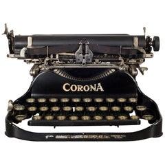 Early 20th Century Antique Corona Flip Top Portable Typewriter, circa 1917
