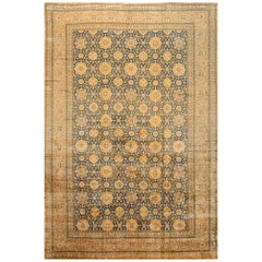 Early 20th Century Antique Indian Oversize Wool Rug