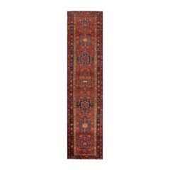 Early 20th Century Antique Karajah Wool Runner Rug