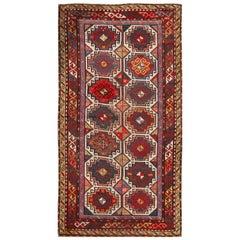 Early 20th Century Antique Kazak Wool Gallery Rug