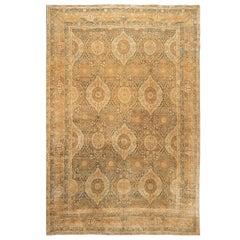 Early 20th Century Antique Kerman Wool Rug