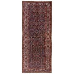 Tribal Antique Persian Mahal Carpet, Circa 1910s