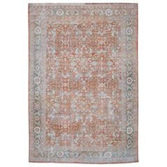 Early 20th Century Antique Mahal Rug