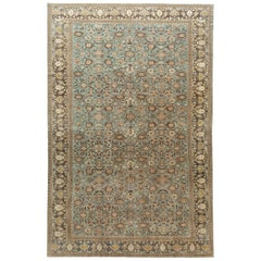 Early 20th Century Antique Malayer Oversize Wool Rug