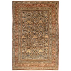 Early 20th Century Antique Mashad Wool Rug
