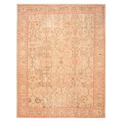 Early 20th Century Antique Oushak Wool Rug