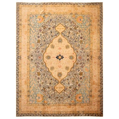 Early 20th Century Antique Oversize Tabriz Wool Rug