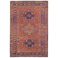 Early 20th Century Antique Persian Heriz Karaja Rug