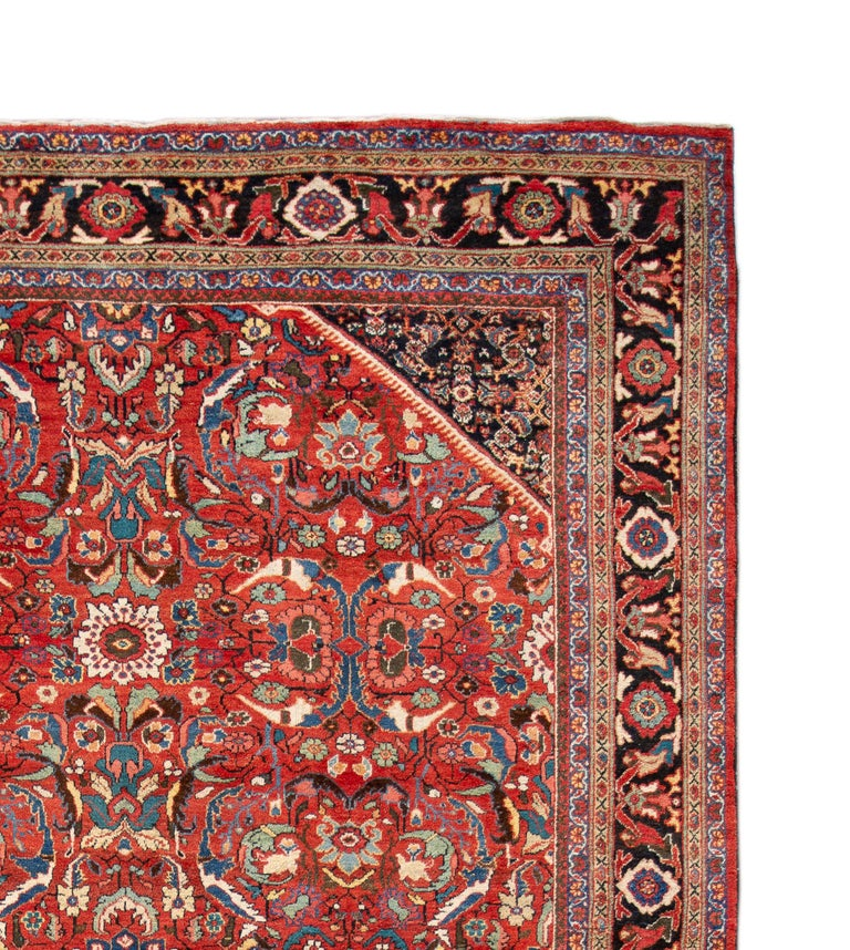 Hand-Knotted Early 20th Century Antique Persian Mahal Oversize Wool Rug For Sale