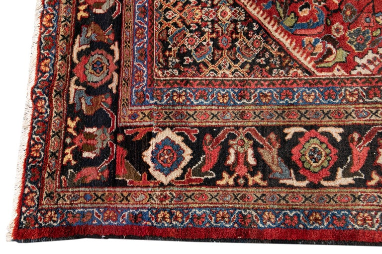 Early 20th Century Antique Persian Mahal Oversize Wool Rug In Good Condition For Sale In Norwalk, CT