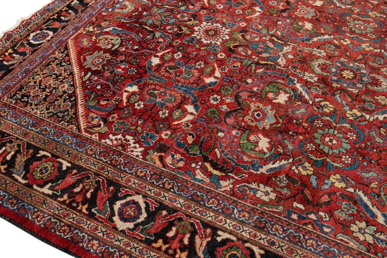 Early 20th Century Antique Persian Mahal Oversize Wool Rug For Sale 2