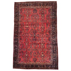 "Early 20th Century Antique Persian Maharajan Sarouk Rug - 12'4"" x 19'3"""