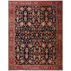 Early 20th Century Antique Serapi Wool Rug