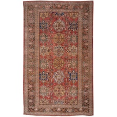 Early 20th Century Antique Sultanabad Carpet