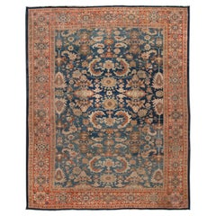 Early 20th Century Antique Sultanabad Wool Rug