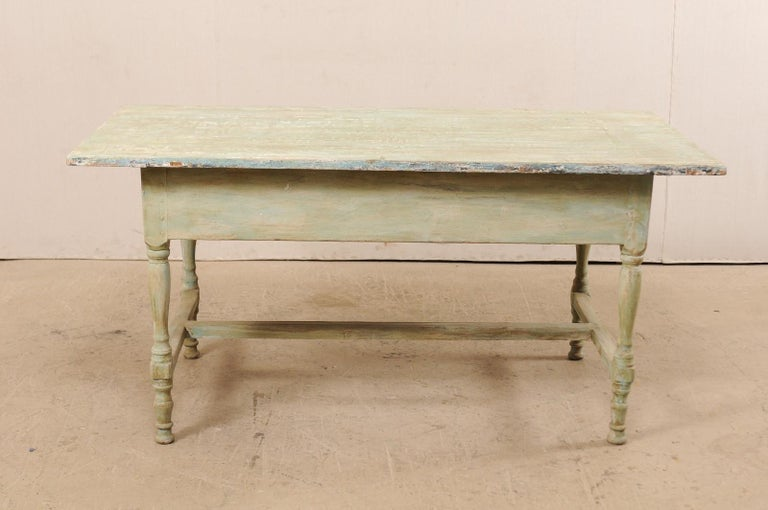 Early 20th Century Antique Swedish Farm-House Table For Sale 5