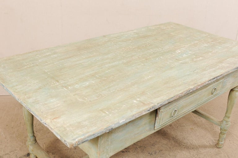 Metal Early 20th Century Antique Swedish Farm-House Table For Sale