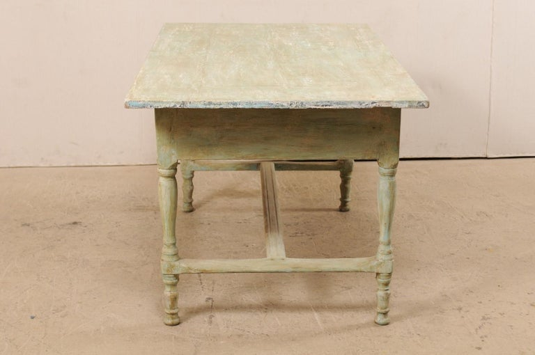 Early 20th Century Antique Swedish Farm-House Table For Sale 1