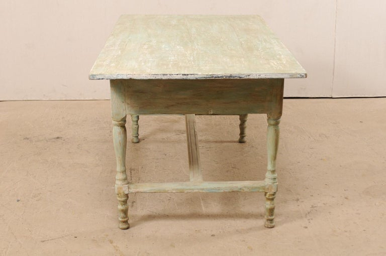 Early 20th Century Antique Swedish Farm-House Table For Sale 2