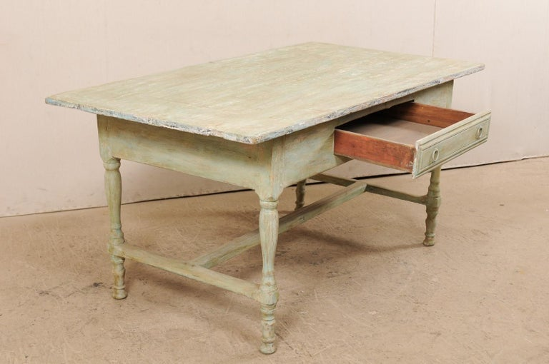 Early 20th Century Antique Swedish Farm-House Table For Sale 3