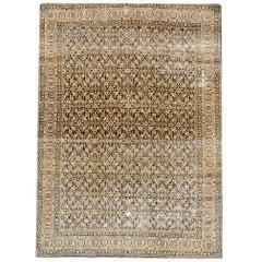 Early 20th Century Antique Tabriz Wool Rug
