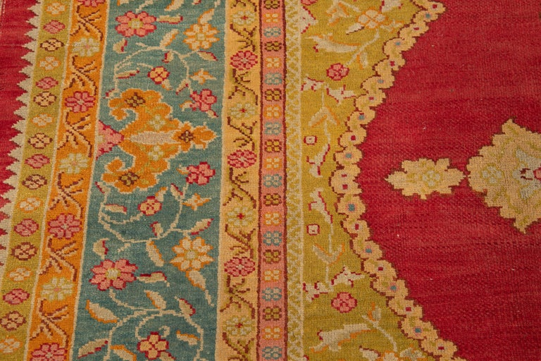Early 20th Century Antique Turkish Oushak Wool Rug For Sale 12