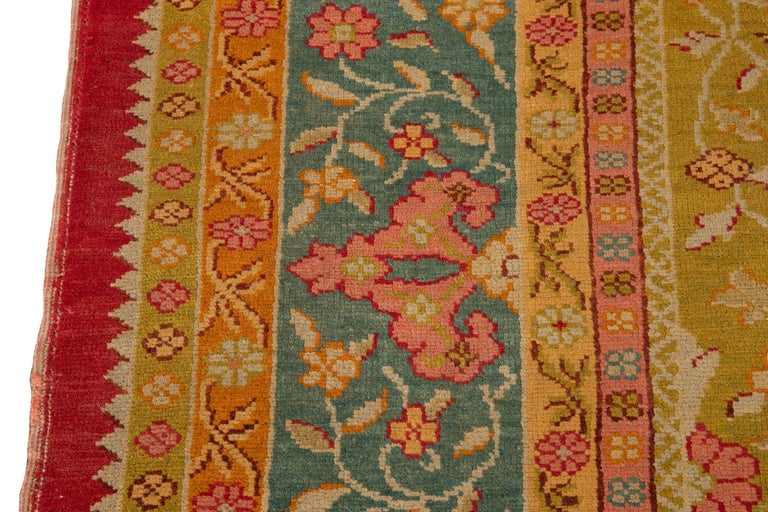Early 20th Century Antique Turkish Oushak Wool Rug For Sale 13