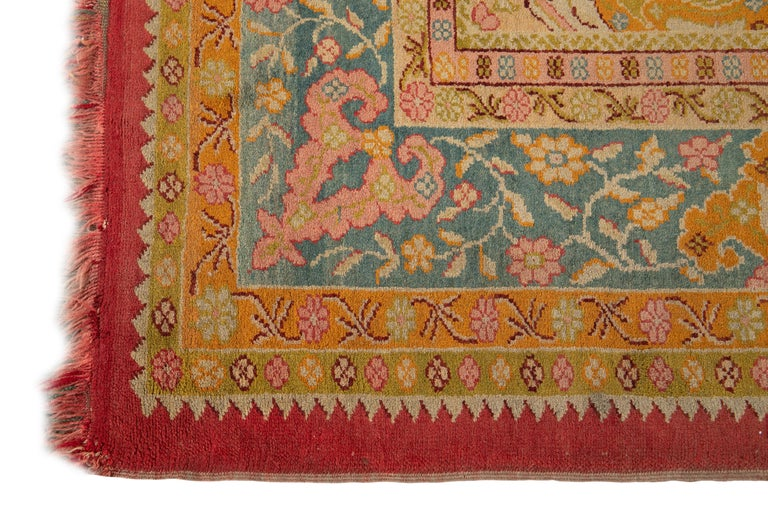 Early 20th Century Antique Turkish Oushak Wool Rug For Sale 3