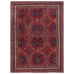 Early 20th Century Antique Turkish Oushak Wool Rug