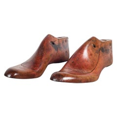 Early 20th Century Antique Wood and Leather Shoe Last, circa 1920-3 Available