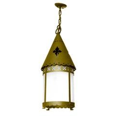 Early 20th Century Argentine Brass Pendant Light Fixture