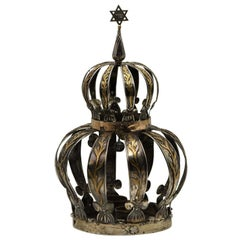 Early 20th Century Argentinian Silver and Gold Torah Crown