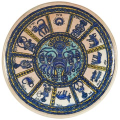 Early 20th Century Armenian Pottery Plate from Jerusalem