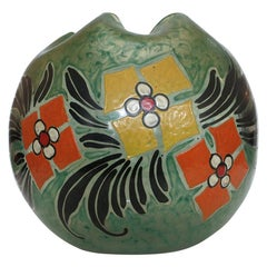 Monumental Early 20th Century Art Glass Vase by Verrerie Legras
