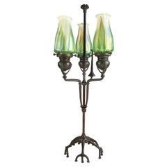 Early 20th Century Art Nouveau Adjustable Candlestick by, Tiffany Studios