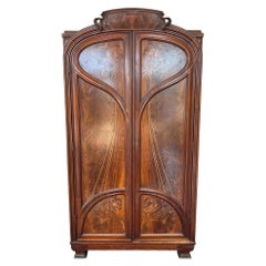 Early 20th Century Art Nouveau Armoire Cabinet