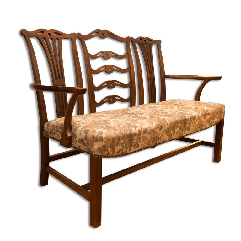 Jugendstil Adolf Loos, Early 20th Century Secessionist Bench in Oak For Sale