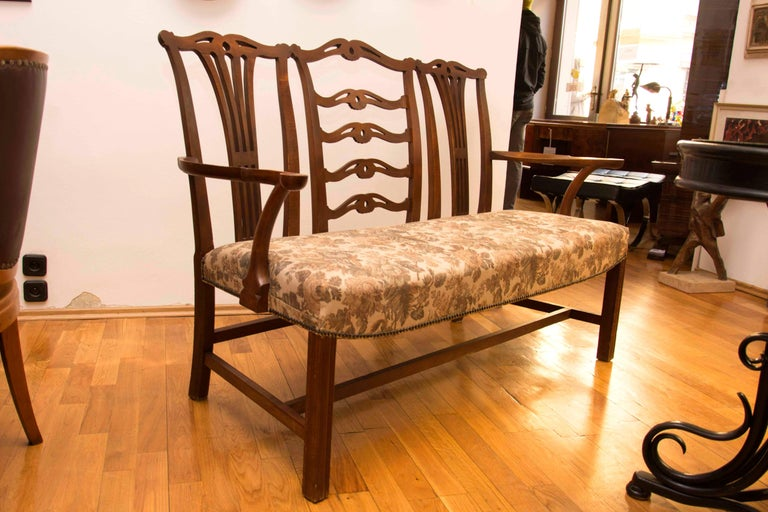 Austrian Adolf Loos, Early 20th Century Secessionist Bench in Oak For Sale