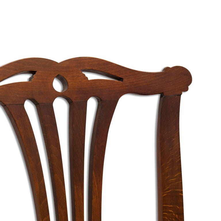 Fabric Adolf Loos, Early 20th Century Secessionist Bench in Oak For Sale