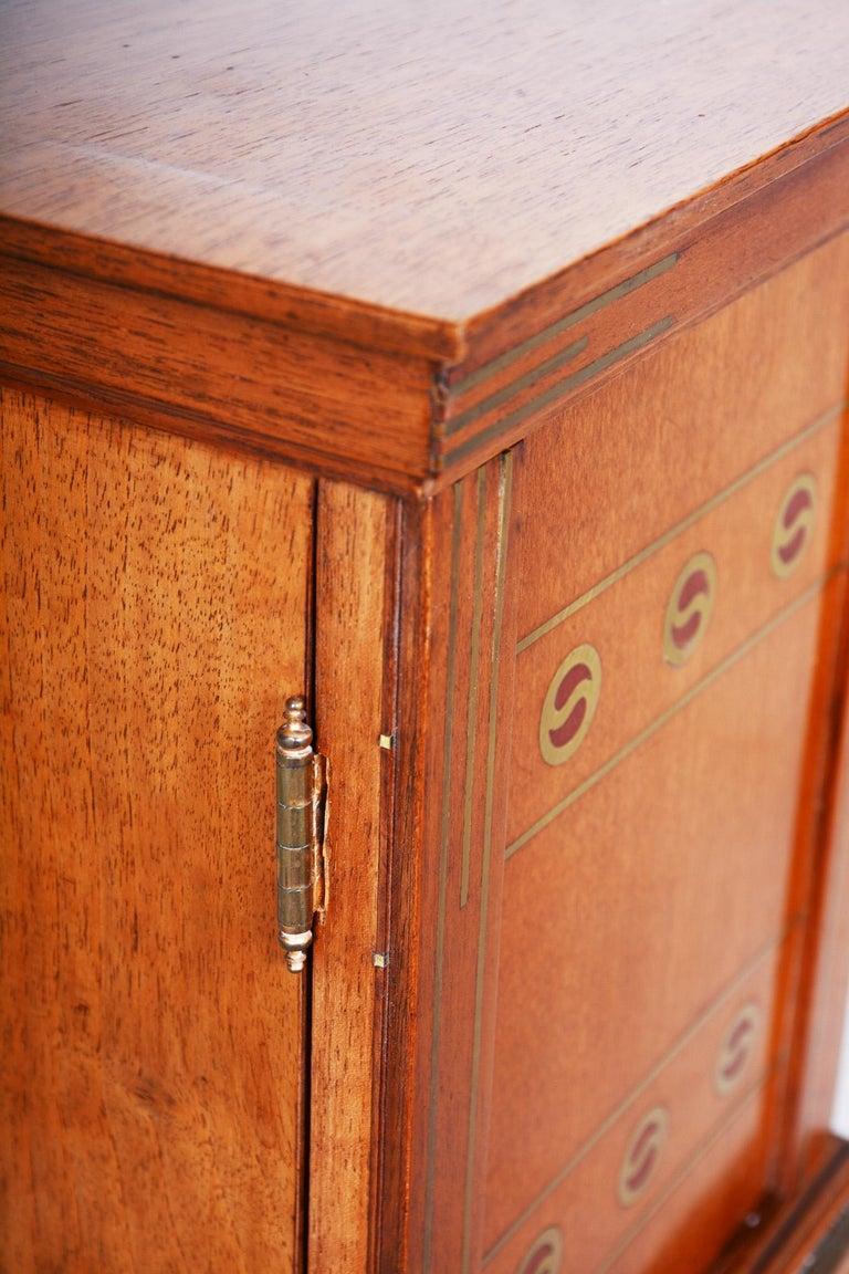 Early 20th Century Art Deco Jewelry Box, Walnut, Czechia 'Bohemia', 1920s For Sale 3