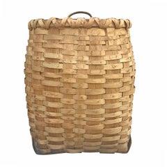 Early 20th Century Ash Splint Basket