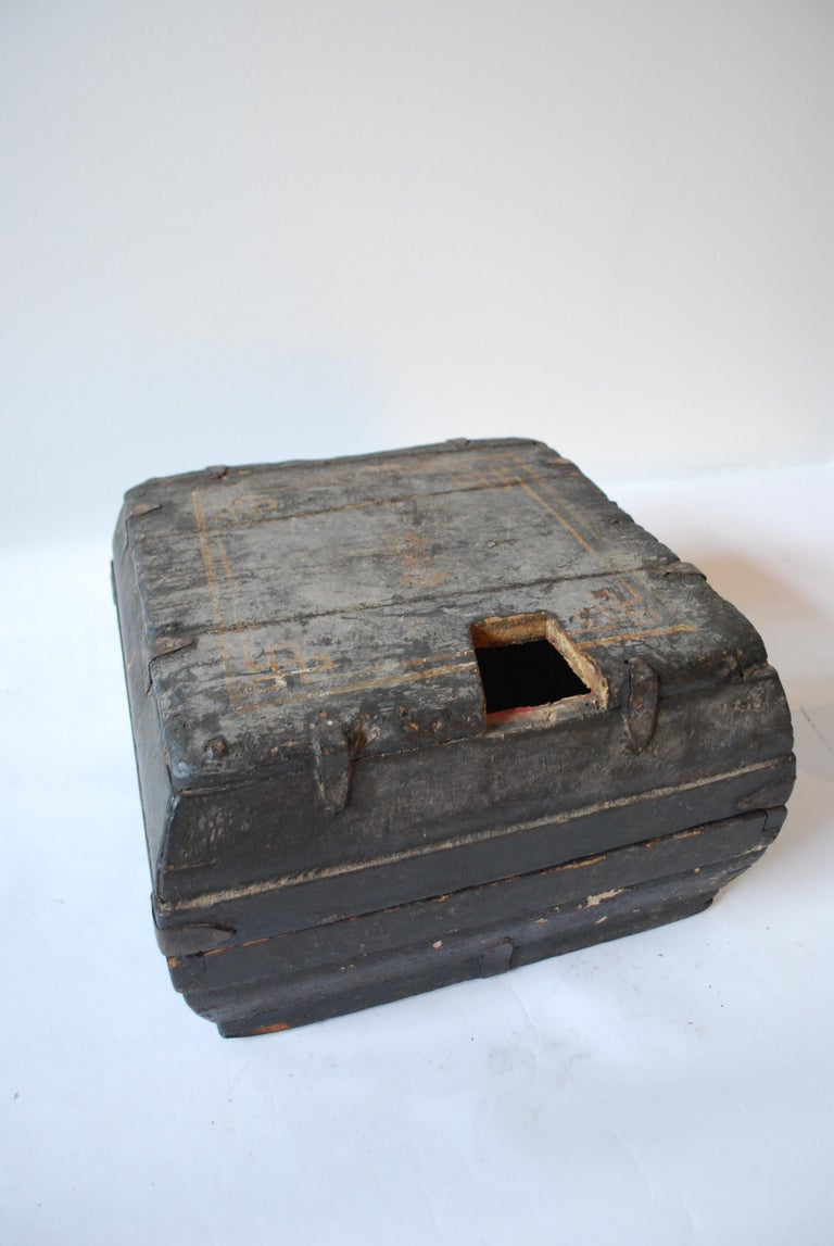 Early 20th Century Asian Covered Food Boxes Set of Six For Sale 10