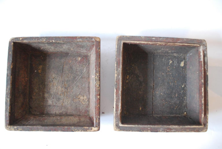 Early 20th Century Asian Covered Food Boxes Set of Six For Sale 14