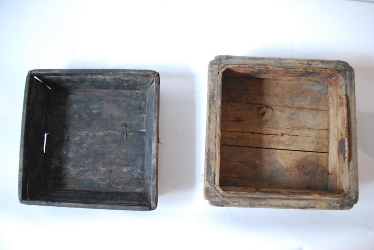 Wood Early 20th Century Asian Covered Food Boxes Set of Six For Sale